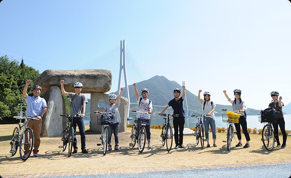 日本一のサイクリング道「しまなみ海道」観光の様子